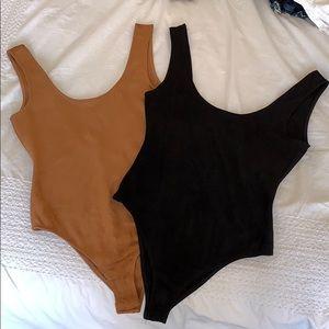 Honey Punch Suede Bodysuits